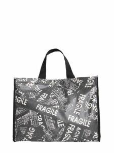 MM6 Maison Margiela Fragile Printed Medium Shopping Bag
