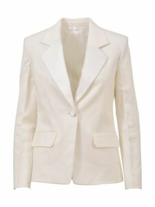 Helmut Lang White Blazer Jacket With Button