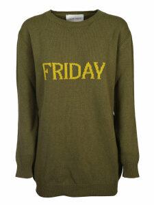 Alberta Ferretti Friday Sweater Dress