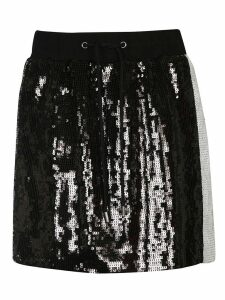Alberta Ferretti Embroidered Paillette Skirt