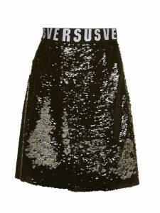 Versus Versace All Over Sequin Flared Skirt