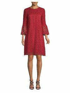 Sidra Lace Bell-Sleeve Shift Dress