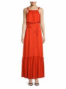 Coco Flounced Popover Maxi Dress
