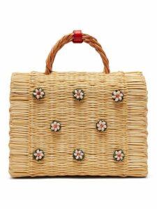 Heimat Atlantica - Shella Woven Basket Bag - Womens - Cream Multi