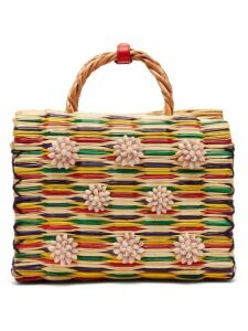 Heimat Atlantica - Chito Reed Basket Bag - Womens - Red Multi
