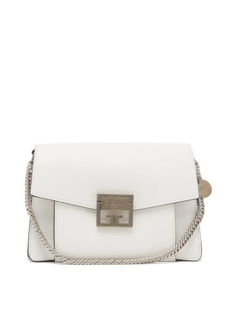 Givenchy - Gv3 Small Leather Cross Body Bag - Womens - White
