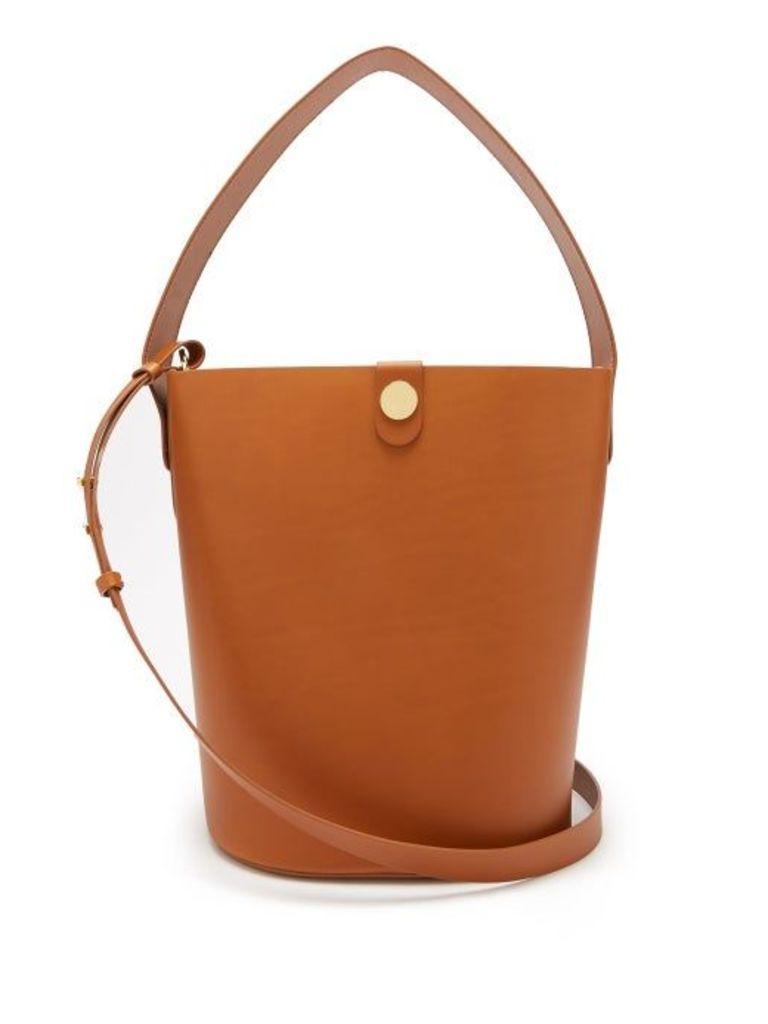 Sophie Hulme - Large Swing Leather Bucket Bag - Womens - Tan
