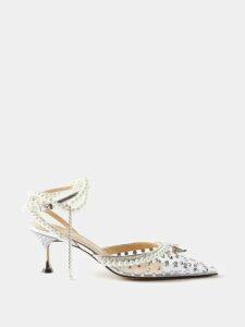 Richard Quinn - Floral And Vintage Scarf Print Satin Coat - Womens - Multi
