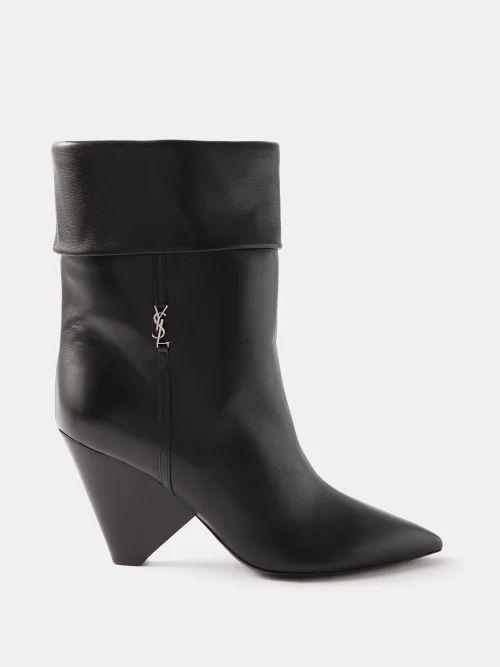 Richard Quinn - Floral Print Satin Coat - Womens - Brown Print