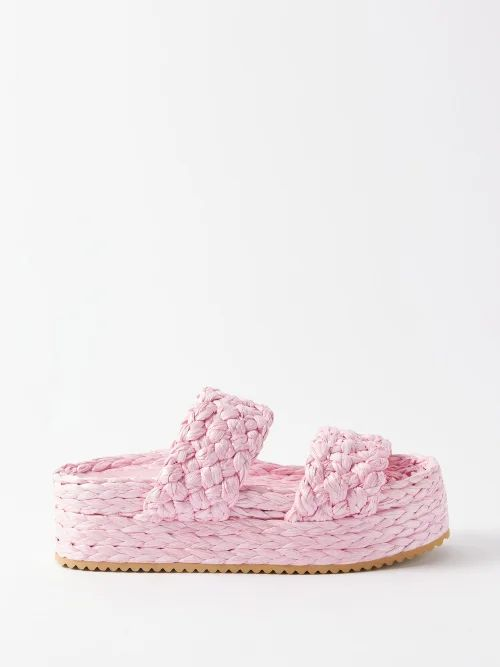 Richard Quinn - Floral Print Stretch Velvet Top - Womens - Green Print