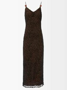 Roksanda - Houma Silk Dress - Womens - Blue