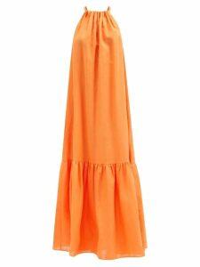 Prada - Banana And Flame Print Wrap Cotton Skirt - Womens - Yellow Print