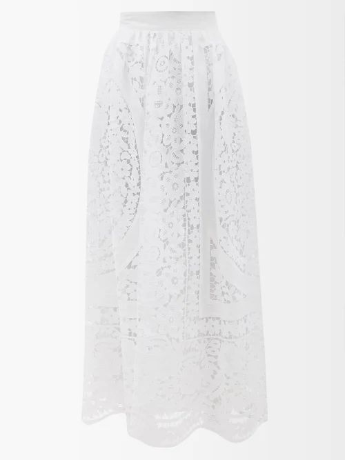 Toga - High Rise Belted Maxi Skirt - Womens - Camel