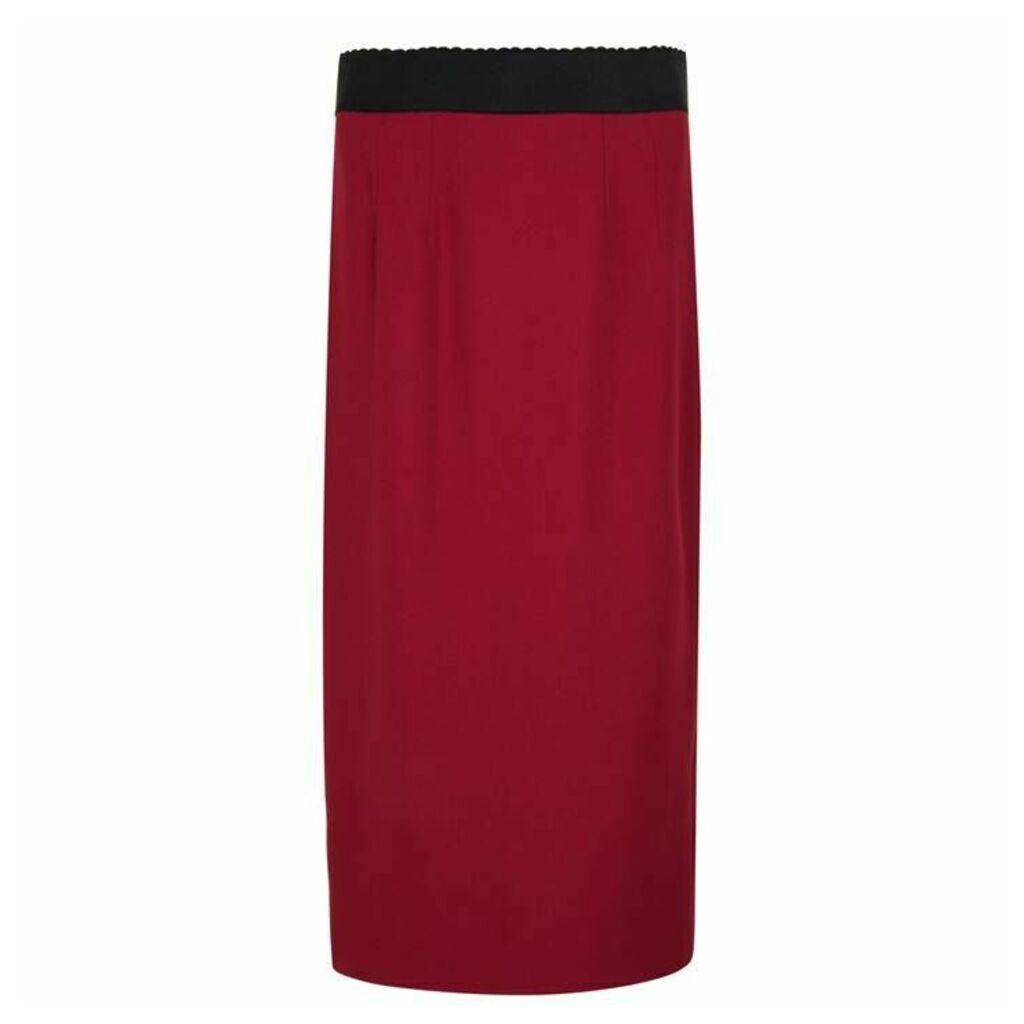 Dolce and Gabbana Cady Pencil Skirt