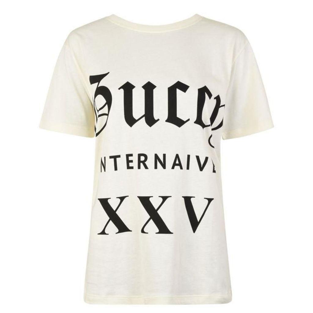 GUCCI Guccy Internaive Logo T Shirt