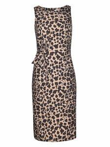 Parosh Leopard Print Dress