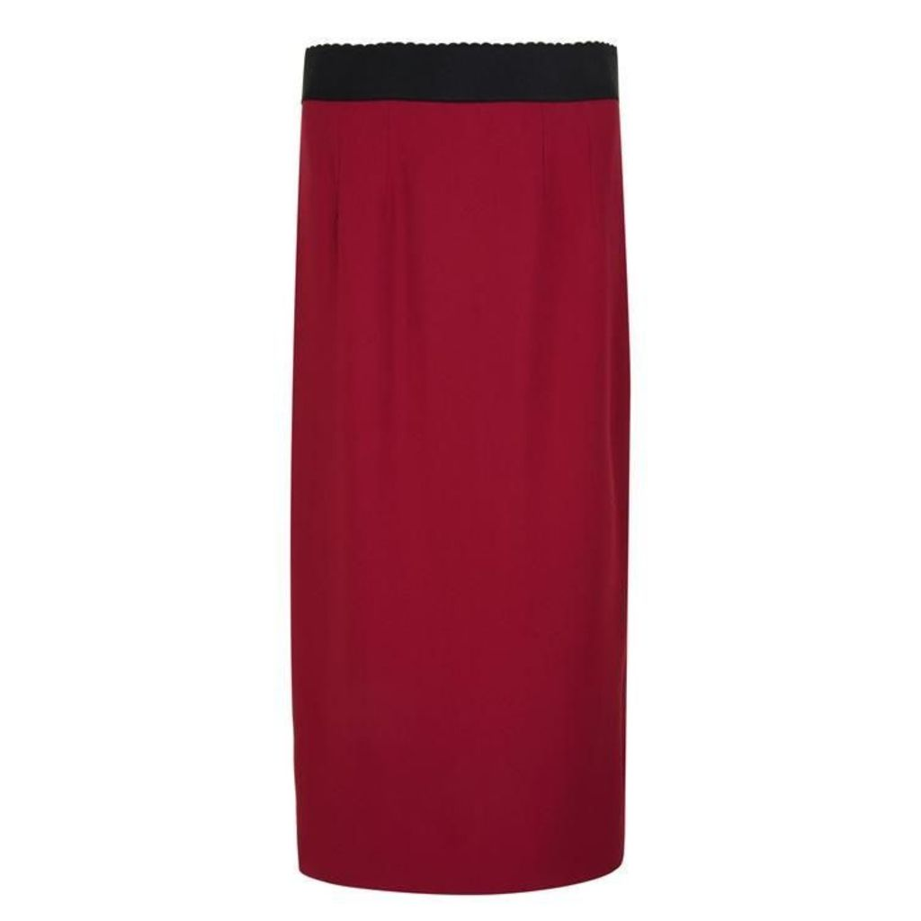 DOLCE AND GABBANA Cady Pencil Skirt