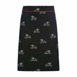 Bicycle Print Skirt