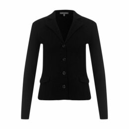 Black Long Sleeve Milano Knit Blazer