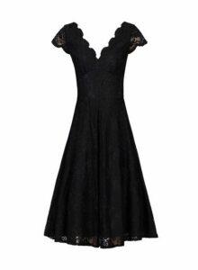 Womens *Jolie Moi Black Lace Prom Dress- Black, Black