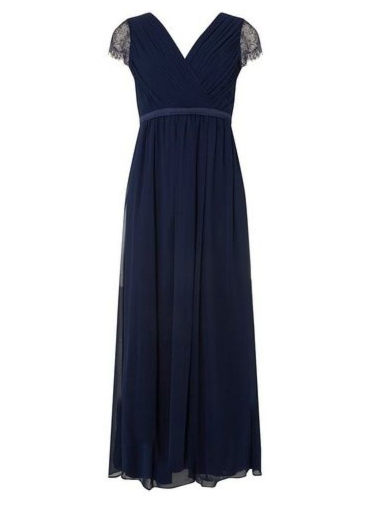 Womens **Showcase Petite Bridesmaids Navy 'Athena' Maxi Dress- Navy, Navy