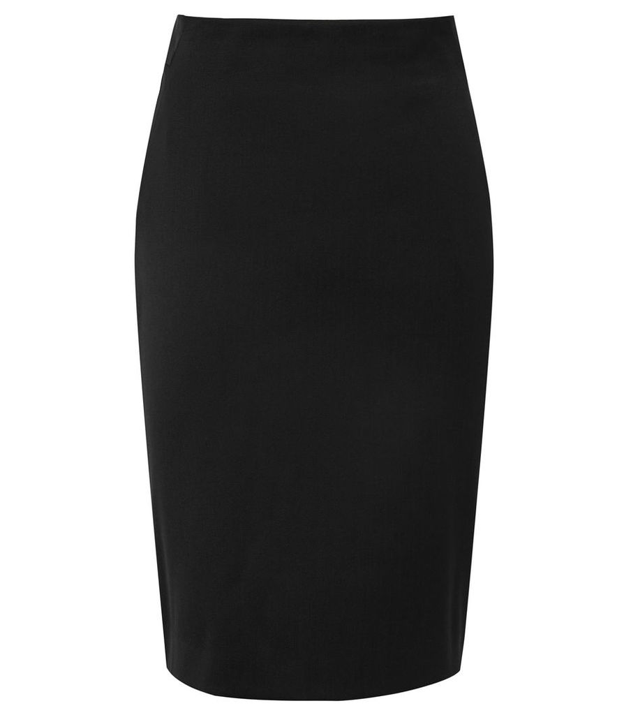 Reiss Harper Skirt - Tailored Pencil Skirt in Black, Womens, Size 16