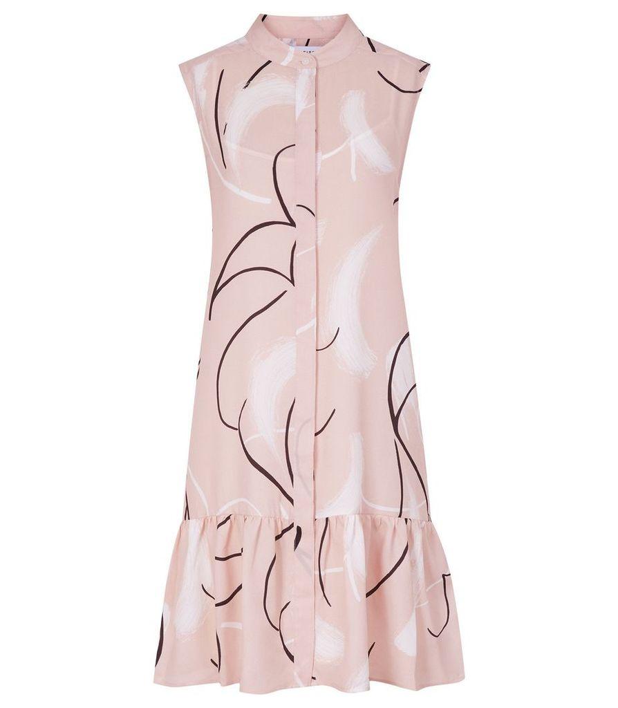 Reiss Anastasia - Printed Drop Waist Dress in Pink, Womens, Size 14