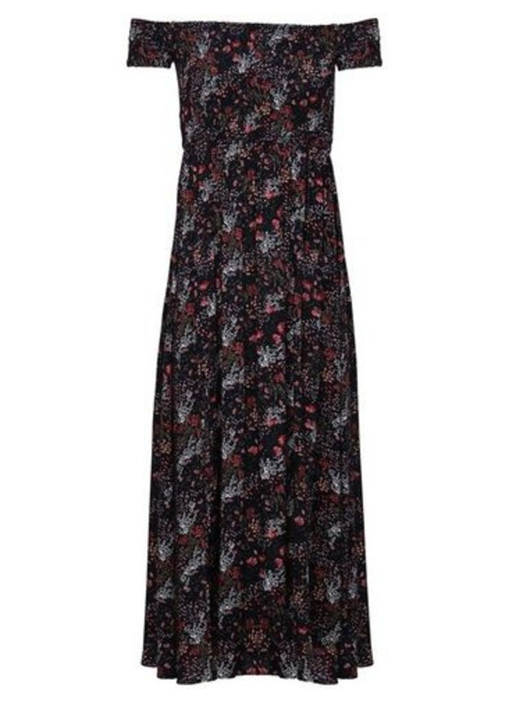 Womens *Izabel London Navy Floral Print Maxi Dress- Navy, Navy