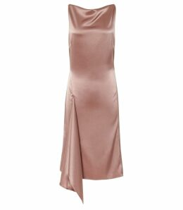 Reiss Serenella - Lace Detail Dress in Pink, Womens, Size 14