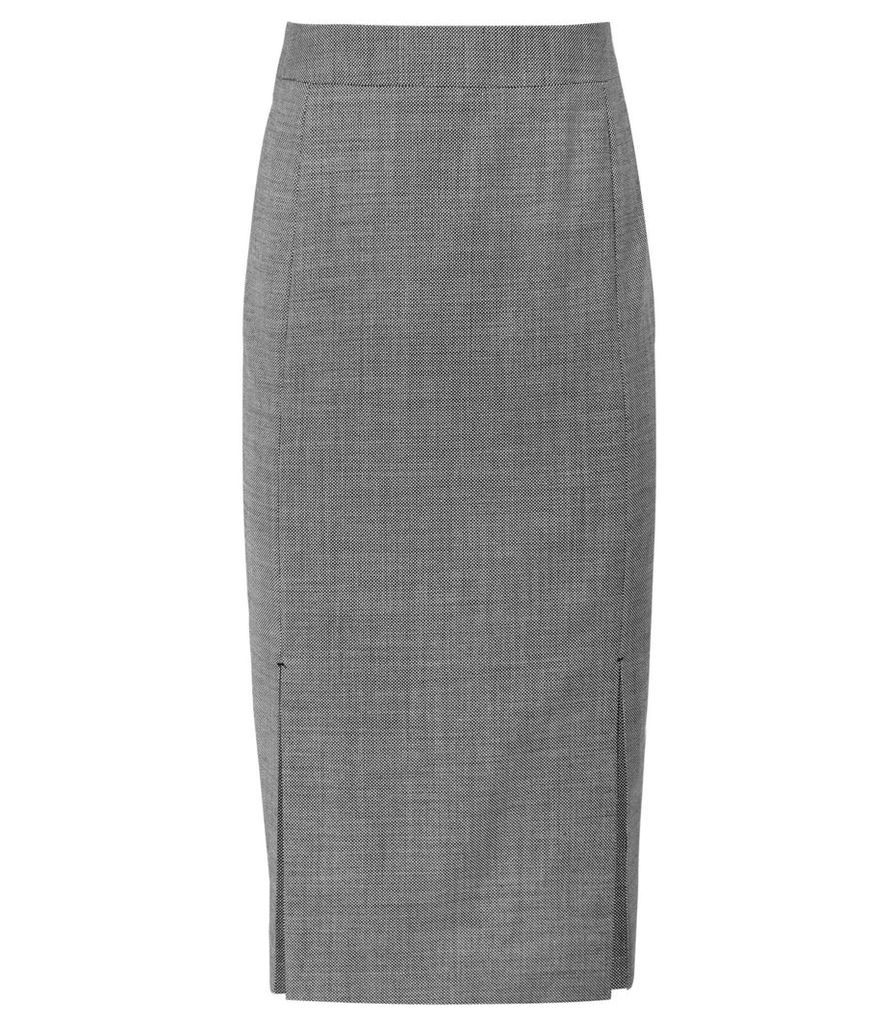 Reiss Alber Skirt - Tailored Pencil Skirt in Grey, Womens, Size 16