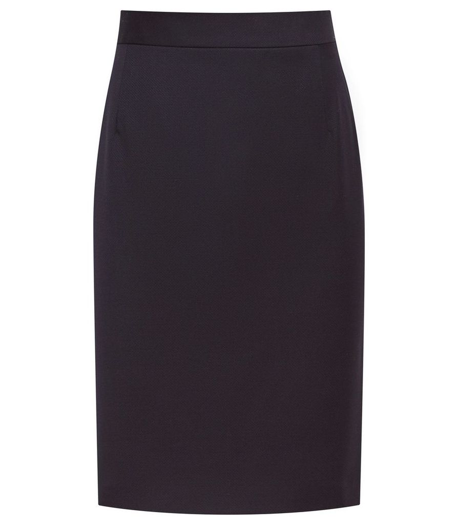 Reiss Fenton Skirt - Tailored Pencil Skirt in Navy, Womens, Size 16