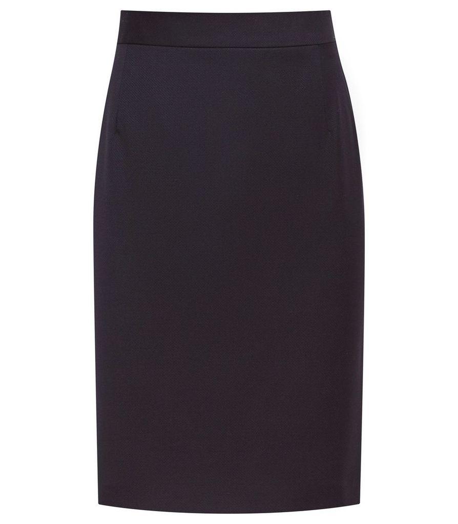 Reiss Fenton Skirt - Tailored Pencil Skirt in Navy, Womens, Size 16