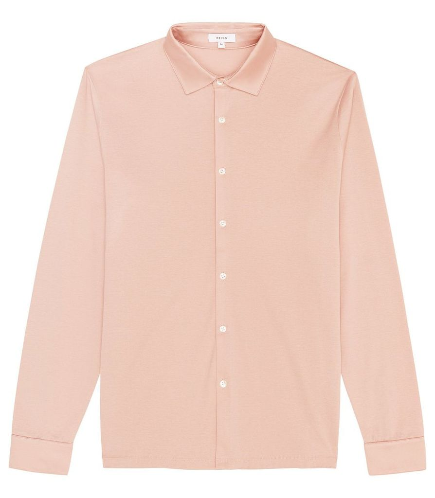 Reiss Chapter - Mercerised Cotton Shirt in Pink, Mens, Size XXL