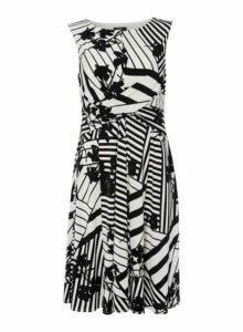 Womens *Roman Originals Monochrome Skater Dress- Black, Black