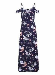 Womens *Izabel London Navy Maxi Dress- Navy, Navy