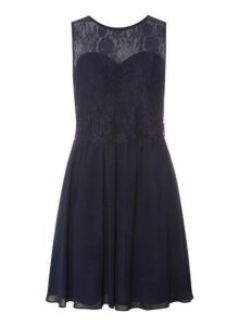 Womens **Showcase Navy 'Lola' Prom Dress- Blue, Blue