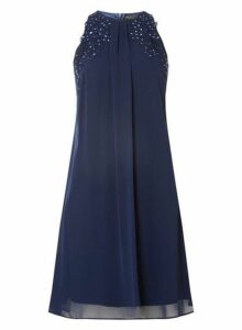 Womens **Showcase Navy 'Lily' Trapeze Dress- Navy, Navy