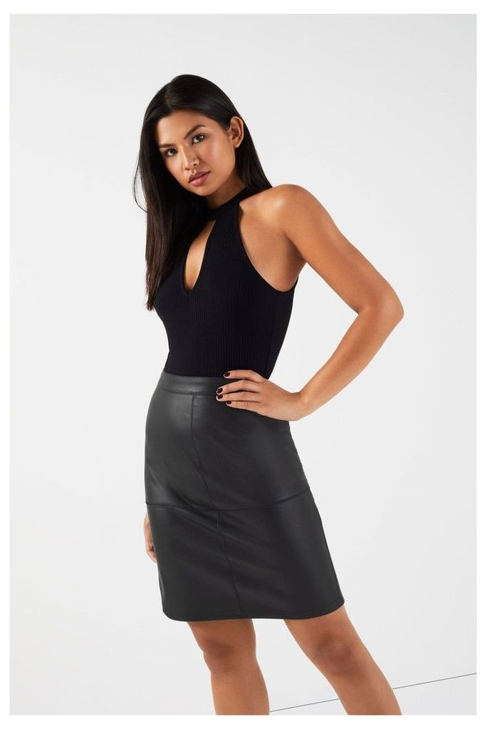 Womens Vila Skirt -  Black