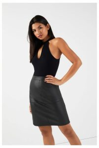 Womens Vila Skirt -  Black