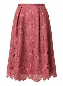 Womens **Luxe Plum Lace Skirt- Purple, Purple
