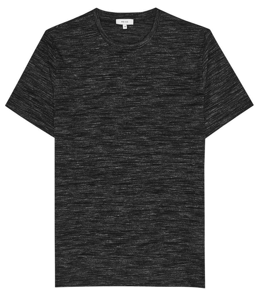 Reiss Max - Space Dye Crew Neck T-shirt in Charcoal, Mens, Size XXL