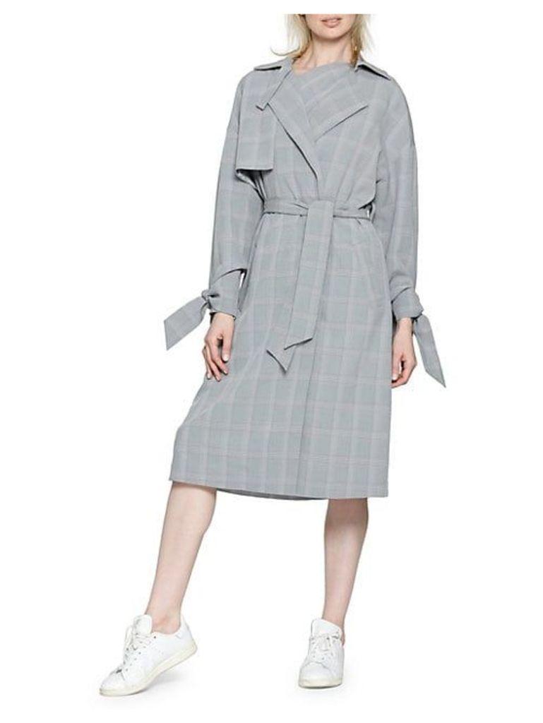 Plaid Trench Coat