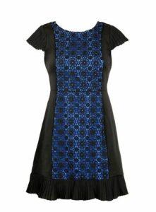 **Lovedrobe Black Pleated Dress, Black
