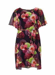 **Scarlett & Jo Purple Chiffon Dress, Purple