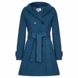 De La Creme  Winter Hooded Coat  women's Trench Coat in Green