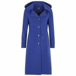 De La Creme  Cashmere Winter Coat  women's Parka in Blue
