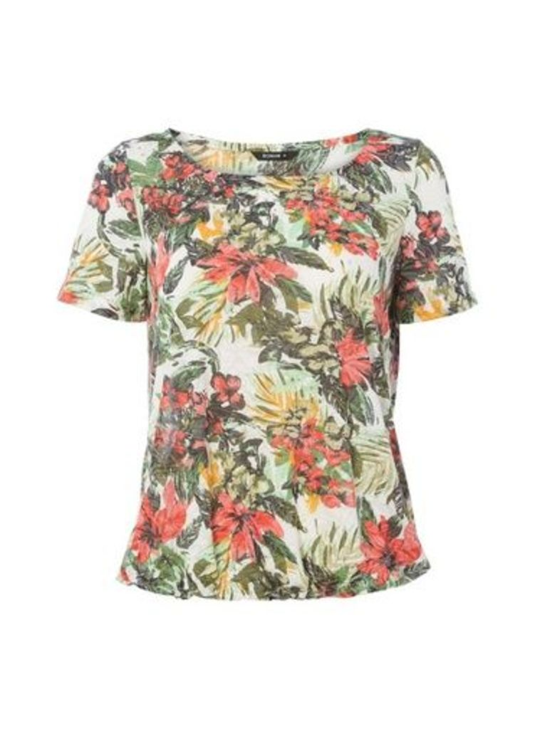 Womens *Roman Originals Multi Coloured Tropical Burnout T-Shirt- Multi Colour, Multi Colour