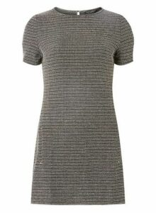 Womens Grey Textured Jacquard Tunic'- Grey, Grey