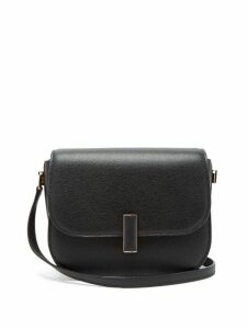 Valextra - Iside Cross Body Grained Leather Bag - Womens - Black