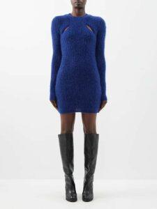 Balenciaga - Panelled Silk And Cotton Dress - Womens - Yellow Multi